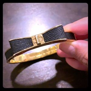 Kate Spade Black and Gold Ribbon Bracelet